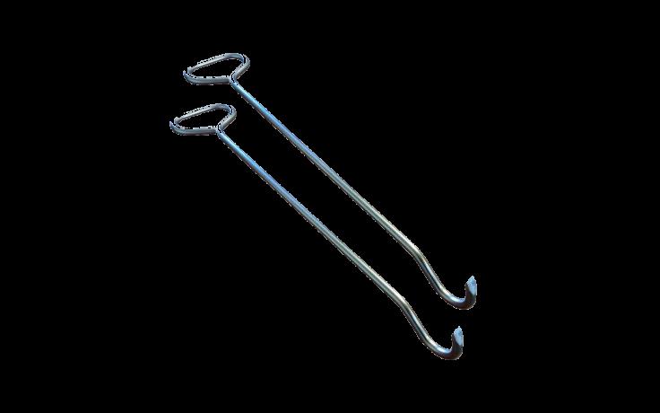 Crochets lève plaque - par 2