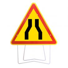 Panneau de signalisation chaussée rétrécie longueur 1000mm - AK3