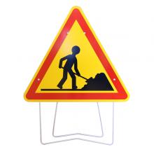 Panneau de signalisation chantier temporaire longueur 1000mm - AK5 - Travaux