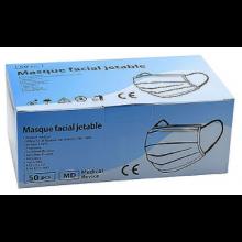 Masques chirurgicaux Bleus 3 Plis jetables - Boîte de 50