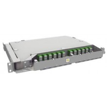"""Tiroir 19"""" pivotant modulaire 2U SC/APC G.657A2 ouverture droite"""