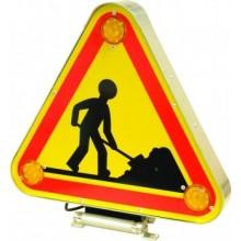 Panneau triflash LED signalisation chantier temporaire - AK5 - Travaux